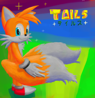 Tails the cute kitsune by GaussianCat