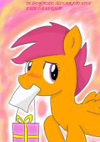 Tarjeta Scootaloo Muy Especial by AutumnLeaf1230