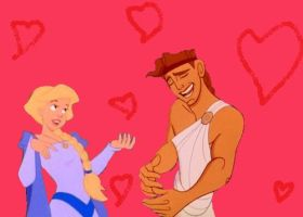 Odette and Hercules crossover couple by ILoveAnimeAndDisney