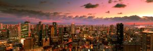 View from Umeda Sky Building during Sunset by imladris517