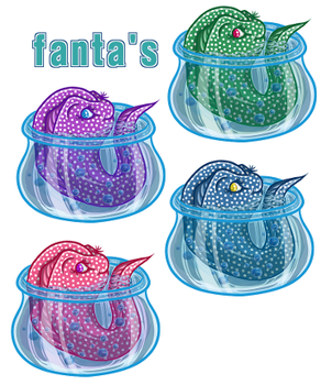 Fanta's: The Cute Moray Eels ! by Maelovent
