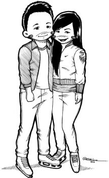 Jess and Paul by asoulofanartist