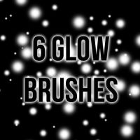 6 High-Resolution Glow Brushes by LaytonStock