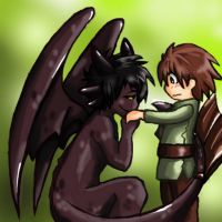 A boy and His Dragon by zims-lost-soul
