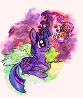 Twilight and her magic by smartMeggie