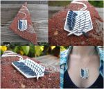 Attack on Titan - Shingeki no Kyojin Necklace 01 by Tsurera