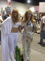 Emma Frost and Dazzler by mjac1971