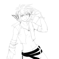 Random sexy elf boy lineart by Soreiya
