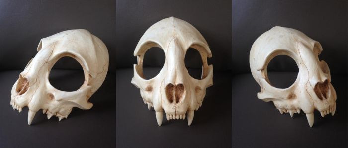 Cat Skull Mask - painted (top) by Bueshang