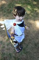 Kid Icarus surveying the area by littlerobin87