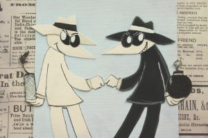Spy vs Spy. by MonotoneInkwell