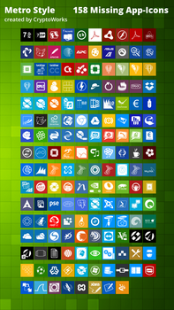 158 Missing App-icons Metrostyle By Cryptowork by CryptoWorks