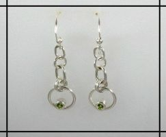 Peridot Loop Earrings by GipsonDiamondJeweler