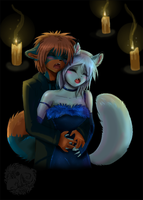 Just us and the Candle lights by Ash-Dragon-wolf
