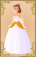 Belle's wedding gown by monsterhighlover3