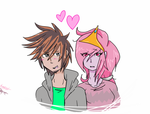 Guy x Princess Bubblegum by yo-go123-k