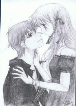 Kyo and Tohru by patchy-cat