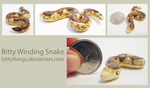 Bitty Winding Snake - SOLD by Bittythings