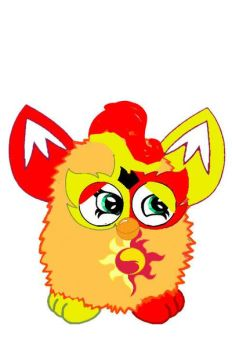 mlp sunset shimmer as a furby by thefurbylover94