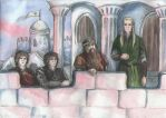 The walls of Minas Tirith by AnotherStranger-Me