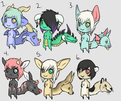 Chibi Tailhead adopt batch 4  [ALL GONE] by Kemikel