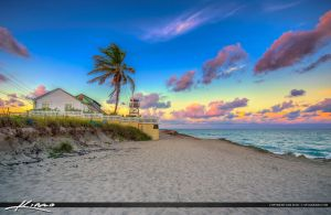 House-of-Refuge-at-Beach-Stuart-Florida-Sunset by CaptainKimo