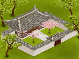 Chinese House Isometric by czhiq2003