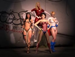 Cruia and Female Power by PepperLord