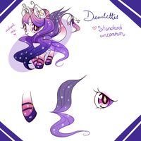 Dewlettes ADOPTABLE #5 STANDARD UNCOMMON OPEN by Ipun