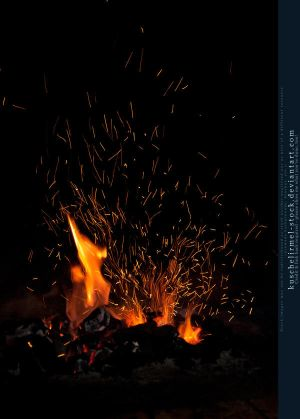 Flames and Sparks 02 by kuschelirmel-stock