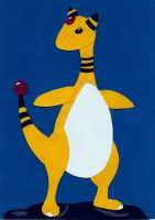 Ampharos Paper Cutting by wandering-pen