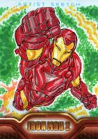 Iron Man 2 sketchcards 3 by SpiderGuile
