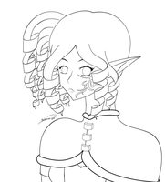 Elf lineart by Ctykty
