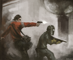 Team Fortress Dystopia - Painting I by HawtKoffee