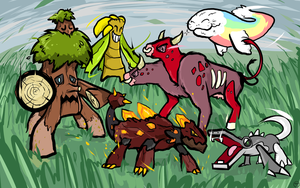 tonyfin007's Fakemon Team by ishmam