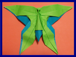 Origami Butterfly created and folded by me. by OrigamiFolder13