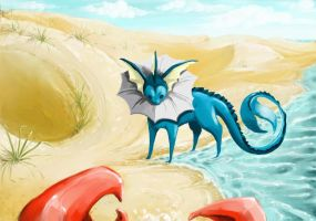 Vaporeon Collab by Bean-Sprouts