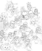 DnD:Requiem Character designs by ShinMusashi44