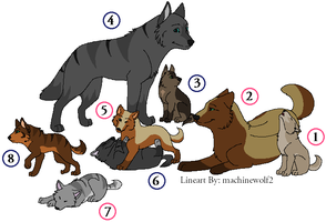 Wolf Adoptables GONE by Luckydog33k