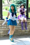Sailors Neptune and Saturn by MomoKurumi