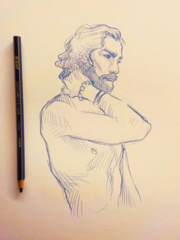 sketch/ figure drawing in color #1 by CamillE898