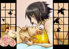 SasuNaru sweet morning by Rock-Monster