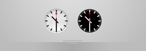 Swiss Railway Clock For Rainmeter by alperyesiltas