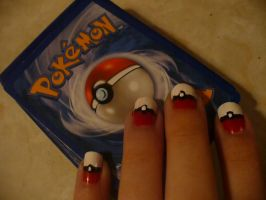 pokemon nails by emogirl22juliet