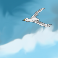 Bird and Background Doodle by AdamShrugged