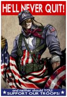 Captain America won't quit by jlonnett