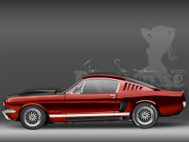Red Revisited Mustang '65 by tommyes