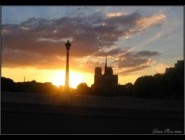 Gothic Sunset of Paris... by ancelique