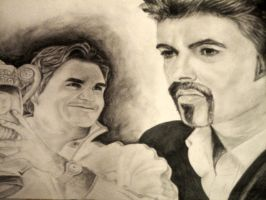 Michael George and Roger Federer by Ariba-05