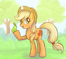 MLP: AJ gift by lady-largo
